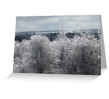 Landscape in Silver and Grey Greeting Card
