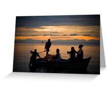Happy Fishermen, Lake Malawi Greeting Card