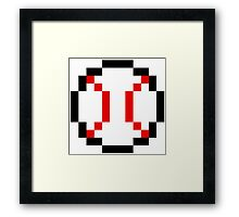 8 Bit Baseball Framed Print