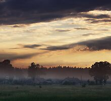 Sunrise of Spring in Village by Antanas