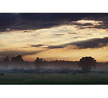 Sunrise of Spring in Village Photographic Print