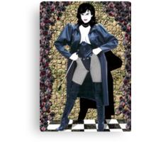 Girl in a Long Black Coat Canvas Print