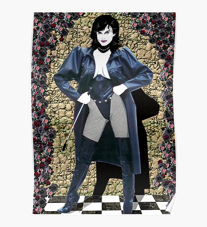 Girl in a Long Black Coat Poster