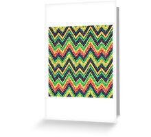 Colorful Zigzag Chevron Pattern Greeting Card