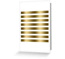 Modern Faux Gold Stripes Pattern Greeting Card