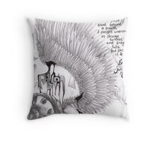 Twilight Fallen Angel Throw Pillow