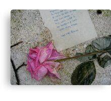 Sartre's grave Canvas Print