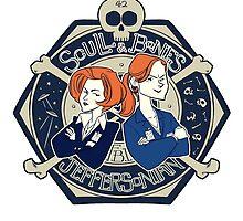 Scully & Bones Club by tumblebuggie