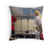 Olde Tyme Sugaring Throw Pillow