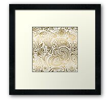 Faux Fold Floral Paisley Framed Print
