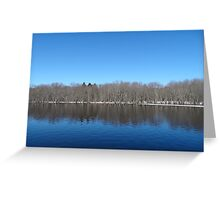 The Concord River of Massachusetts Greeting Card