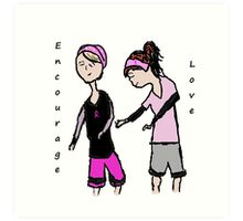 Breast Cancer Awareness Friends Art Print