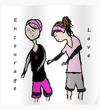 Breast Cancer Awareness Friends Poster