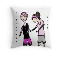Breast Cancer Awareness Friends Throw Pillow