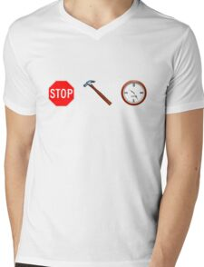Stop! hammertime Mens V-Neck T-Shirt