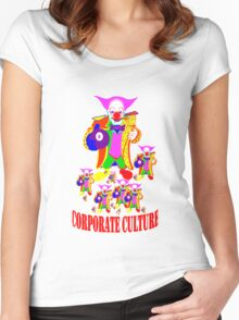 CORPORATE CULTURE CLOWNTOWN 101 Women's Fitted Scoop T-Shirt