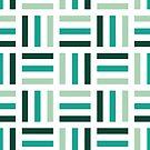 Cute Green and White Geometric Pattern by artonwear