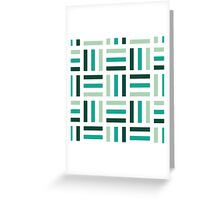 Cute Green and White Geometric Pattern Greeting Card