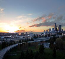 Seattle sunset by fangshangwei