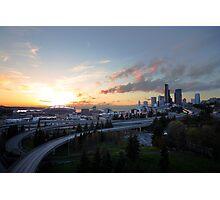 Seattle sunset Photographic Print