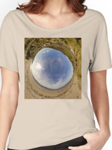 Lisfannon Beach, Fahan, County Donegal - Sky In Women's Relaxed Fit T-Shirt