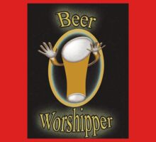 Beer Worshipper T-Shirt by simpsonvisuals