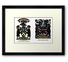 A Complete Guide to Heraldry - Plate IV - Arms of Swinton of That Ilk - Arms of Speke of Jordans Framed Print