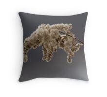 winter fluff Throw Pillow