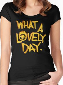 What a Lovely Day. Women's Fitted Scoop T-Shirt