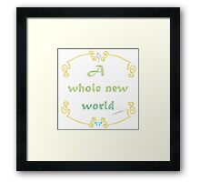 A Whole New World Needlepoint Framed Print