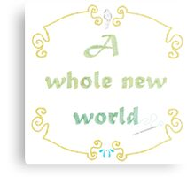 A Whole New World Needlepoint Metal Print