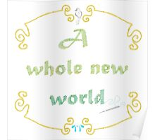 A Whole New World Needlepoint Poster