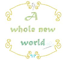 A Whole New World Needlepoint Photographic Print