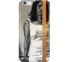 Still Remainder  2011  charcoal and pastels on found wood   iPhone Case/Skin