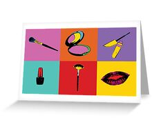 Pop Art Makeup  Greeting Card