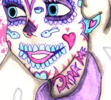 Alice Sugar Skull Sticker