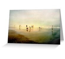 Ten People on A Beach Greeting Card