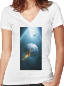 Beyond the Stars Women's Fitted V-Neck T-Shirt