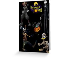 Kingdom Hearts - Halloween Town Greeting Card