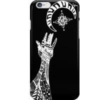 Reaching (White on Black) iPhone Case/Skin