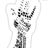 Reaching (White on Black) Sticker
