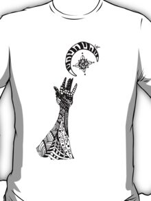 Reaching (Black on White) T-Shirt