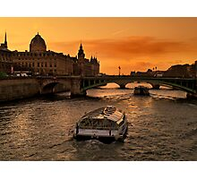 Sunset by the Seine. Photographic Print
