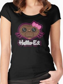 HELLO E.T. Women's Fitted Scoop T-Shirt