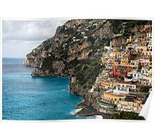 Cliffhouses of Positano Poster
