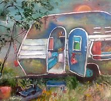 1120 caravan fishing by Gerda  Smit
