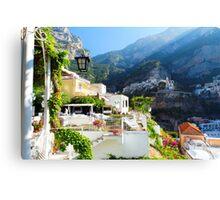 Terrace in Positano Canvas Print