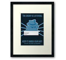 Chrome Incognito Propaganda Poster Framed Print