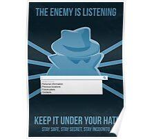Chrome Incognito Propaganda Poster Poster