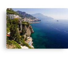 Amalfi Coastal View Canvas Print